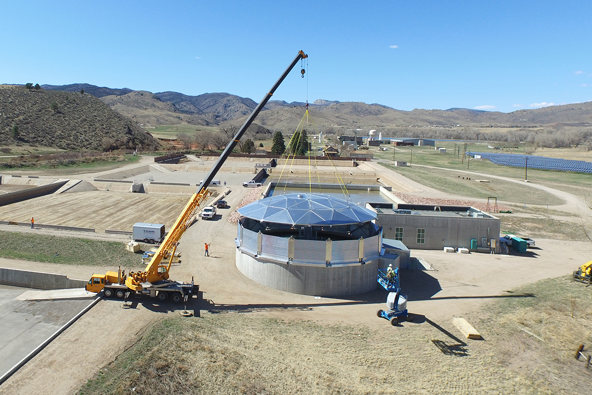 Greeley, CO • Retrofit on concrete base • Clarifier
