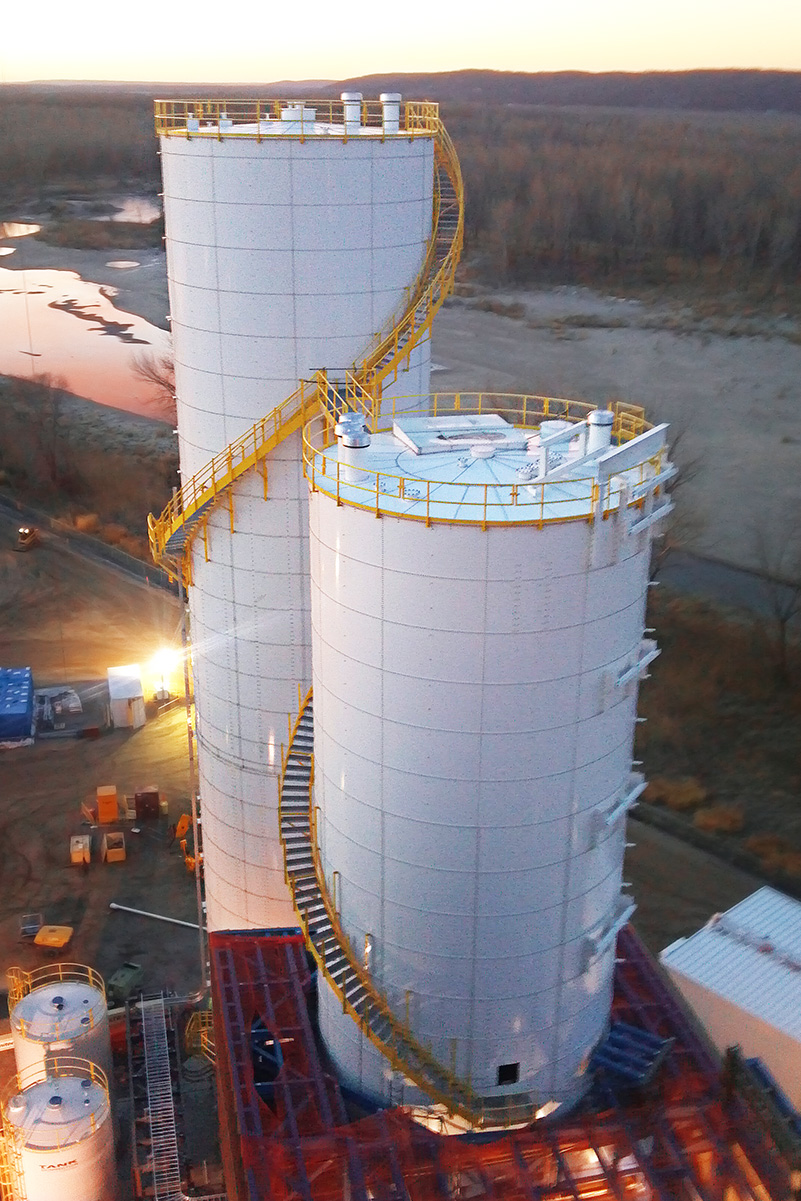 Power Utility  bolted  storage silos