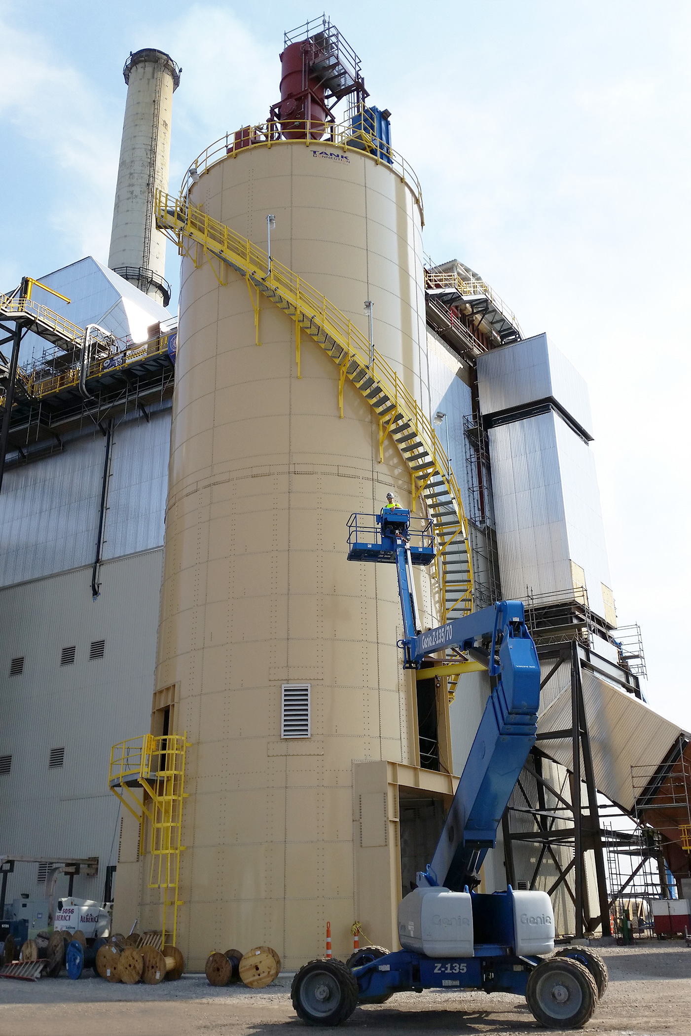 Fly ash bolted RTP tank
