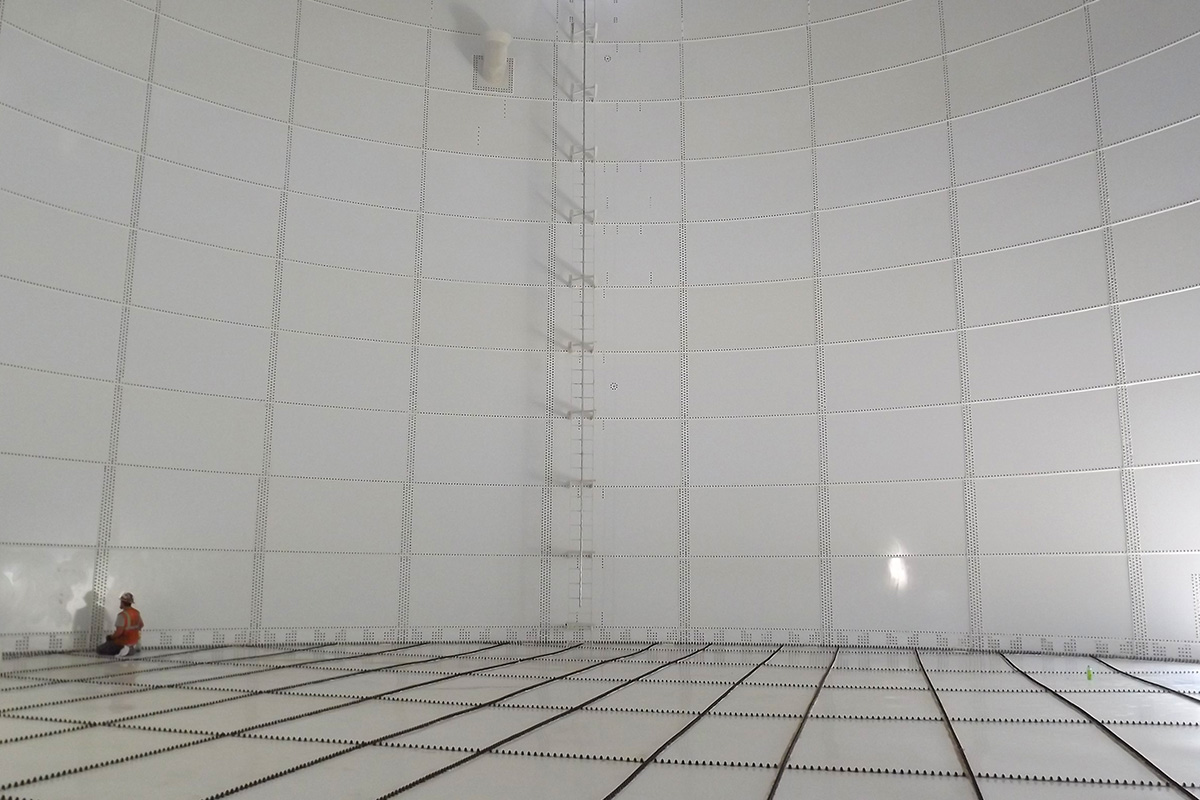 Interior of water storage tank