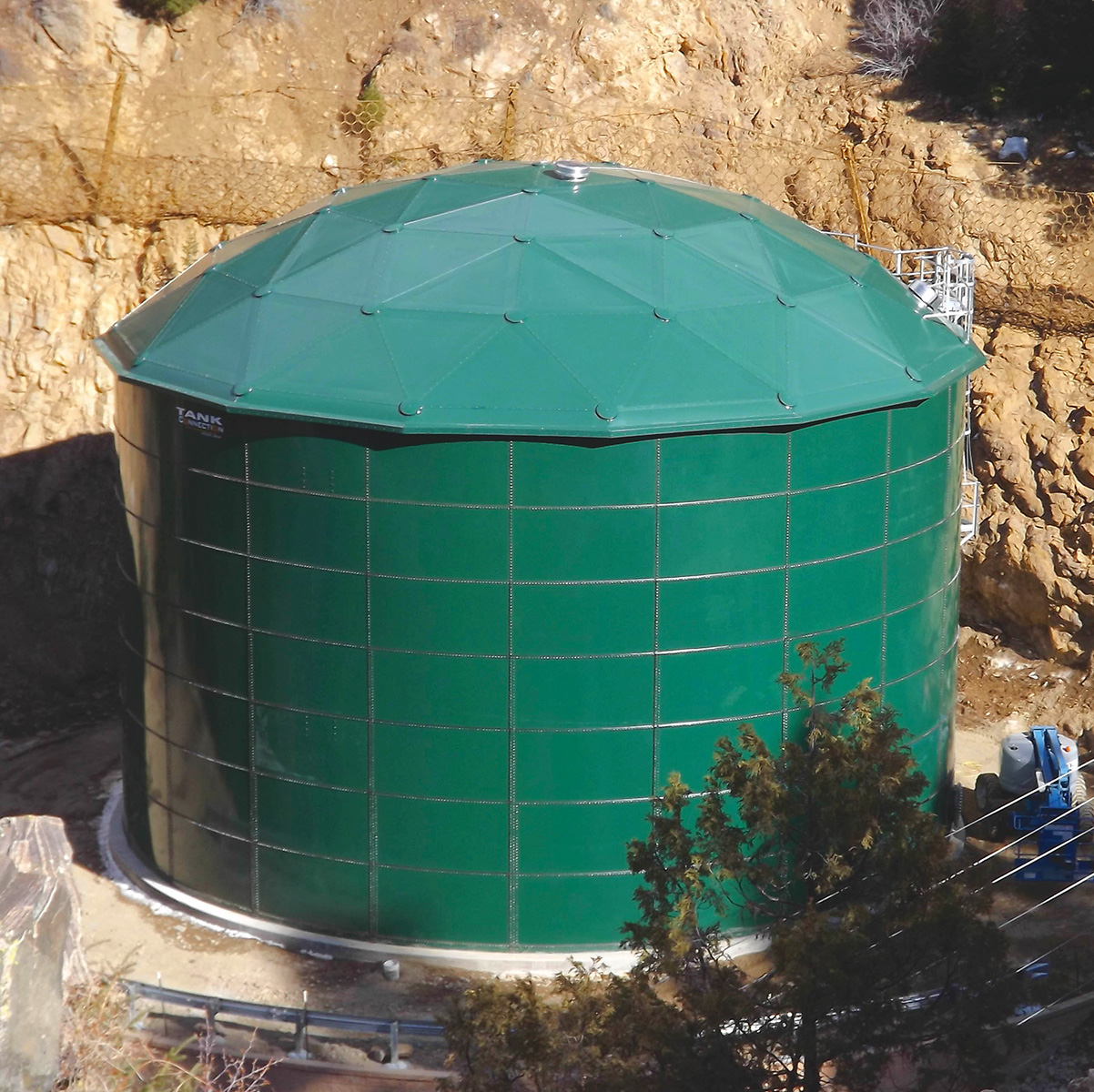 Municipal water tank with dome