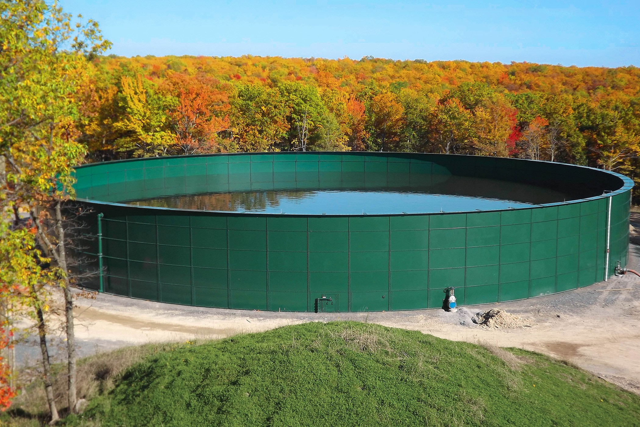 Bolted steel Process water storage