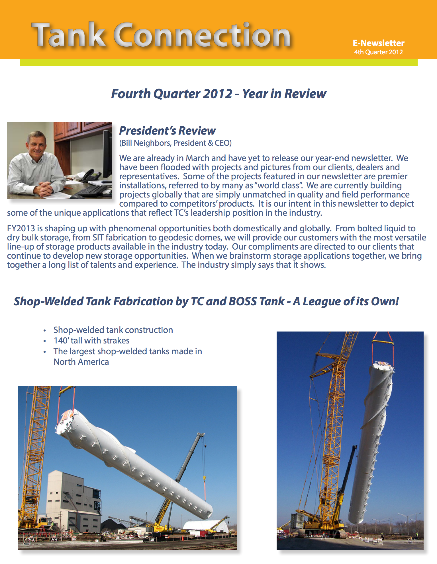 News Letter 2012 4th Quarter
