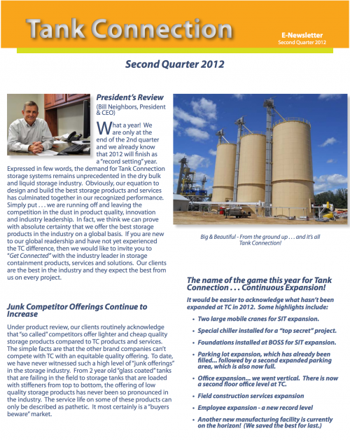 News Letter 2012 2nd Quarter