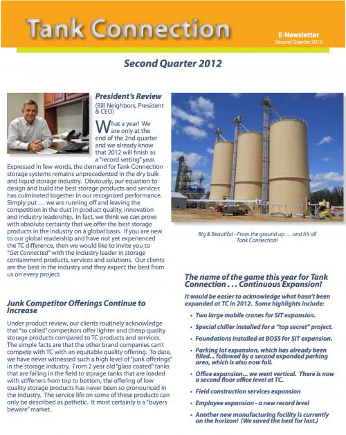 News Letter 2012 2nd Quarter