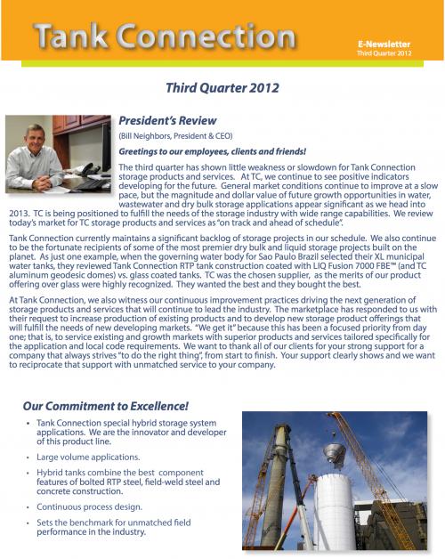 Newsletter 2012 3rd Quarter