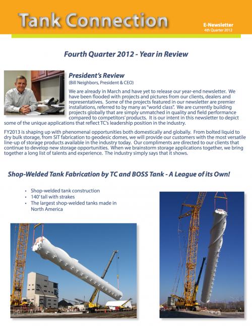 News Letter 2012 4th Quarter