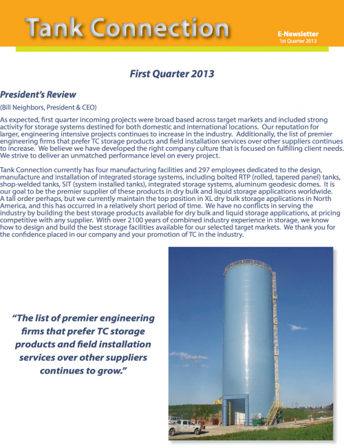 News Letter 2013 1st Quarter