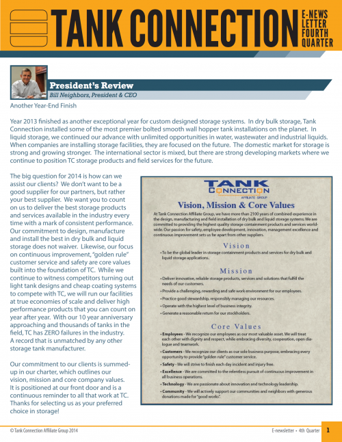 Newsletter 2013 3rd Quarter