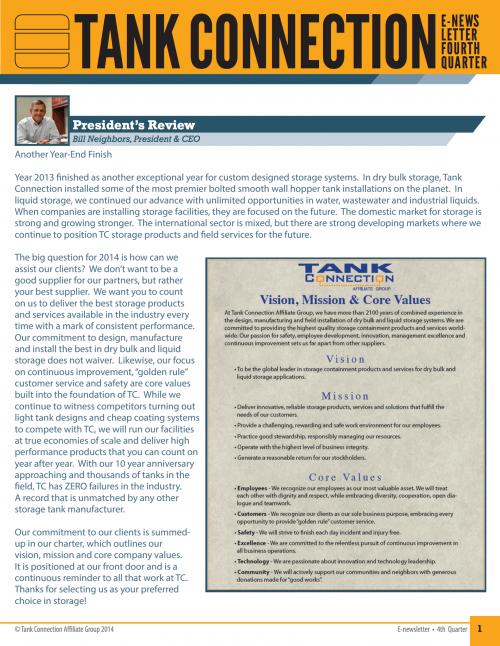 Newsletter 2013 3rd Quarter