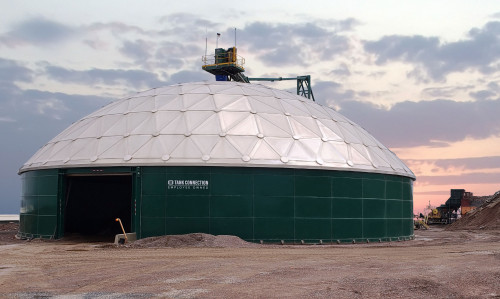 Dry Bulk Storage Tank And Dome