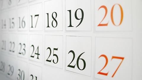 Calendar landing image