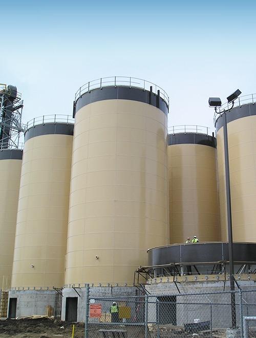 Biomass storage tank