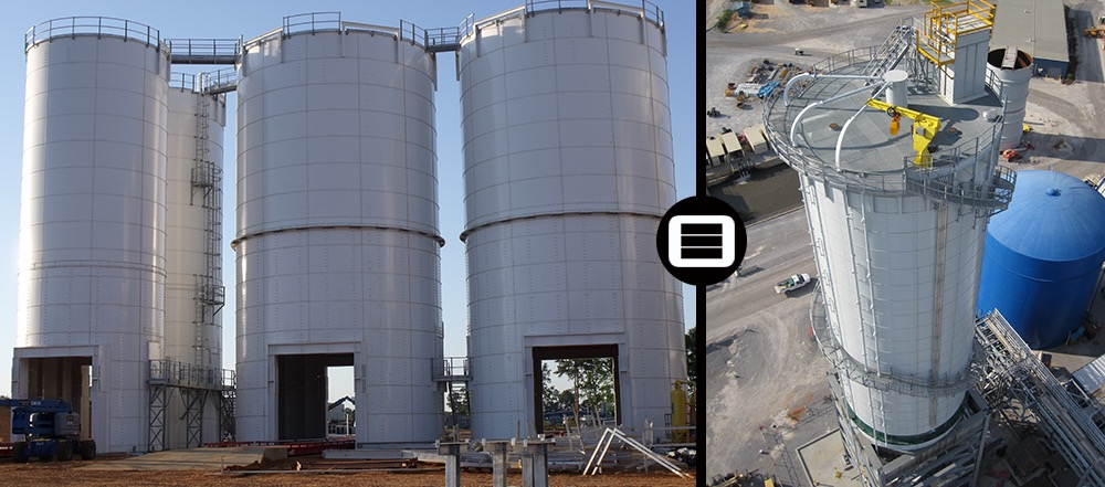 Steel bolted storage tank