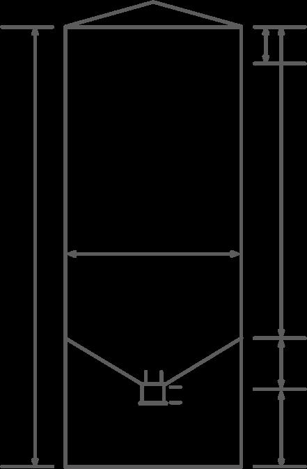 Liquid hopper bottom tank drawing